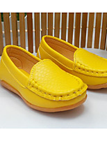 cheap -Girls' Shoes PU Spring Fall Comfort Loafers & Slip-Ons for Casual Red Yellow White