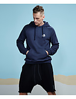 cheap -Men's Daily Sports Casual Active Street chic Hoodie Solid Hoodie Hoodies Micro-elastic Cotton Polyester Long Sleeve Winter Spring/Fall