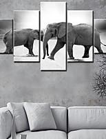 Canvas Set Classic,Five Panels Canvas Vertical Panoramic Print Wall Decor Home Decoration