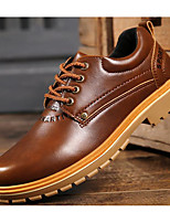 cheap -Men's Shoes PU Spring Fall Comfort Oxfords for Casual Brown Yellow Black