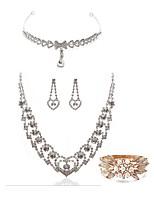 cheap -Women's Bridal Jewelry Sets Forehead Crown Rhinestone Fashion European Wedding Party Pearl Imitation Diamond Alloy Body Jewelry 1