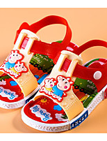 cheap -Girls' Shoes PVC Leather Winter Fall Comfort Sandals Walking Shoes Animal Print for Casual Red Blue