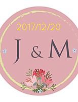 Недорогие -Цветы и растения Цветы Наклейки и теги-10 Круглый Конверт наклейки
