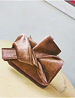 cheap -Women Bags PU Crossbody Bag Bow(s) Zipper for Casual All Season Champagne Green Black Red