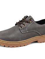 abordables -Hombre Zapatos PU Invierno Otoño Confort Oxfords para Casual Negro Gris Marrón Caqui