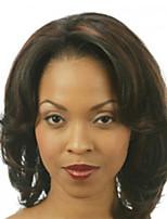 abordables -Femme Perruque Synthétique Court Bouclé Ondulé Noir Partie latérale Perruque afro-américaine Coupe Lutin Perruque Naturelle Perruque de