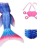 cheap -The Little Mermaid Skirt Kid Halloween Festival / Holiday Halloween Costumes Purple Red Green Light Purple Golden Mermaid