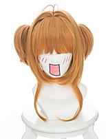 Parrucche Cosplay Cardcaptor Sakura Sakura Kinomodo Anime Parrucche Cosplay 35 CM Tessuno resistente a calore Donna
