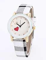 cheap -Women's Dress Watch Wrist watch Chinese Quartz Casual Watch PU Band Vintage Casual Black White Blue Red Pink Khaki
