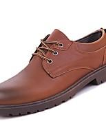 Недорогие -Для мужчин обувь Резина Весна Осень Удобная обувь Туфли на шнуровке Ленты для Черный Желтый Коричневый