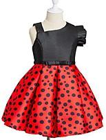 cheap -Girl's Round Dots Dress,Cotton Rayon Summer Sleeveless Princess Red Yellow