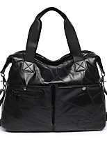 cheap -Women Bags PU Shoulder Bag Beading Pattern / Print Zipper for Casual Outdoor All Season Red Black