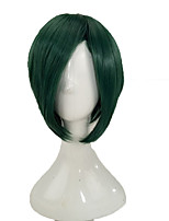 cheap -Women Synthetic Wig Medium Length Straight Mint Green Party Wig Cosplay Wig Costume Wig