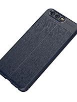 abordables -Coque Pour Huawei P10 Lite P10 Dépoli Relief Coque Arrière Couleur unie Flexible TPU pour P10 Plus P10 Lite P10