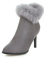 Недорогие -Для женщин Обувь Флис Зима Осень Модная обувь Ботильоны Ботинки На шпильке Заостренный носок Ботинки для Для праздника Для вечеринки /