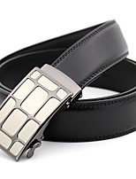 cheap -Men's Leather Alloy Waist Belt,Black Gold Party Work Casual Solid Metal Pure Color