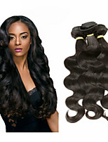 cheap -Malaysian Remy Body Wave Human Hair Weaves 6 pieces 0.3