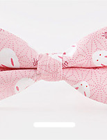 cheap -Men's Cotton Bow Tie,Work Casual Animals All Seasons Gray Blushing Pink