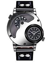 Недорогие -Муж. Повседневные часы Модные часы Уникальный творческий часы Китайский Кварцевый Повседневные часы Крупный циферблат Кожа Группа На