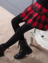 cheap -Girls' Plaid Pants,Polyester Winter Active Red Black