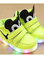 cheap -Girls' Shoes PU Winter Fall Comfort Sneakers Walking Shoes Magic Tape for Casual White Black Green Pink