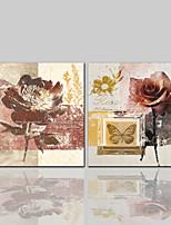 Недорогие -Холст для печати Современный Классика Деревня Modern,2 панели Холст С картинкой Декор стены Украшение дома
