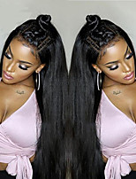 cheap -Silk Long Straight Lace Front Wigs Brazilian Human Hair Wigs  Glueless Lace Front Wigs Virgin Hair Wigs with Baby Hair
