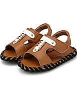 cheap -Boys' Shoes Leather Summer Comfort Sandals Magic Tape for Casual Outdoor Brown