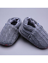 cheap -Baby Shoes Knit Winter Fall Comfort First Walkers Flats for Casual Gray