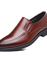 cheap -Men's Shoes Leather Spring Fall Comfort Loafers & Slip-Ons for Casual Brown Black
