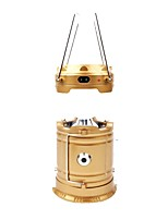 cheap -Lanterns & Tent Lights LED 100 lm Automatic Mode LED Simple Solar Power Camping/Hiking/Caving Gold