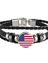 cheap -Men's Wrap Bracelet , Classic Fashion Leather Copper Alloy Circle Jewelry Daily