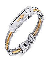 cheap -Men's Bracelet , Fashion Stainless Steel Circle Jewelry Gift Daily