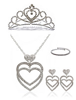 cheap -Women's Pendant Necklace Bridal Jewelry Sets Rhinestone Imitation Diamond Alloy Heart Fashion European Wedding Party Body Jewelry 1