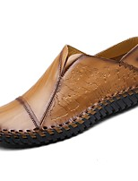 cheap -Men's Shoes Cowhide Spring Fall Moccasin Loafers & Slip-Ons for Casual Brown Yellow Black