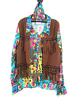 cheap -Hippie Costume Women's Blouse/Shirt Print Vintage Cosplay Polyester Long Sleeves Bell Briefs