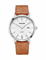 cheap -Men's Casual Watch Fashion Watch Dress Watch Japanese Quartz Calendar / date / day Large Dial Leather Band Casual Elegant Cool Black Khaki