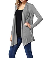 cheap -Women's Sports Casual/Daily Simple Cute Spring Summer Vest,Solid Shirt Collar Long Sleeve Regular Cotton
