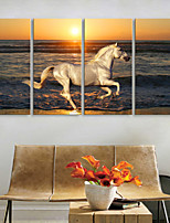 Canvas Print Rustic Modern,Four Panels Canvas Vertical Print Wall Decor For Home Decoration