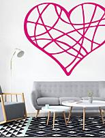 Романтика Наклейки Простые наклейки Декоративные наклейки на стены,Винил Украшение дома Наклейка на стену Стена