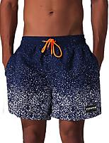 cheap -Men's Print Sexy Fashion Bottoms SwimwearPolyester Spandex Navy Blue White