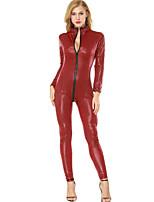 Ultra Sexy Body Vêtement de nuit Femme,Col Ras du Cou Solide-Moyen Polyuréthane Rouge