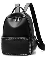 cheap -Women Bags PU Backpack Zipper for Casual Office & Career All Season Black