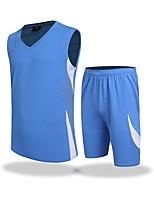 cheap -Men's Soccer T-shirt Trainer Breathability Summer Solid Polyester Soccer/Football