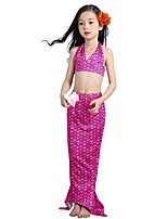 cheap -The Little Mermaid Skirt Swimwear Kid Halloween Festival / Holiday Halloween Costumes Blue Green Fuschia Mermaid