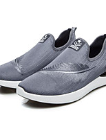 cheap -Men's Shoes Fabric Spring Fall Comfort Loafers & Slip-Ons for Casual Gray Black