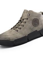 Недорогие -Для мужчин обувь Искусственное волокно Зима Светодиодные подошвы Кеды для Повседневные Черный Серый Хаки