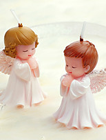 cheap -Party Supplies Birthday Present Creative Birthday Candle Craft Candle Angel Candle Smokeless Baby Candle