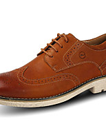 cheap -Men's Shoes Real Leather Pigskin Spring Fall Comfort Oxfords for Casual Brown Coffee