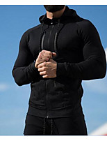 cheap -Men's Petite Daily Casual Hoodie Solid Hooded Without Lining Micro-elastic Cotton Long Sleeve Winter Fall